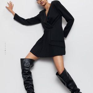 Zara pleated romper jumpsuit dress